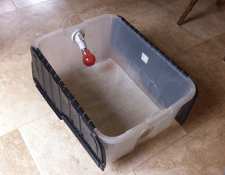 A simple brooder setup. This can be either purchased or home-made
